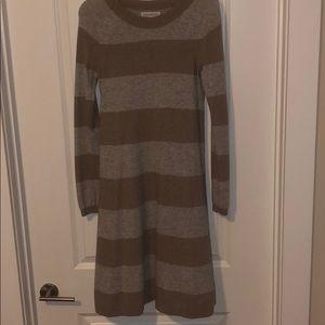 Banana Republic Grey/Tan Cashmere Blend Dress